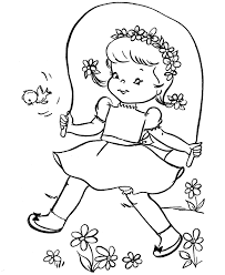 free printable spring coloring pages flower free coloring book