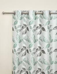 Marks And Spencer Kids Curtains Leaf Jacquard Eyelet Curtain M U0026s