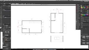 일러스트로 도면치는 방법 how to make floor plan and elevation
