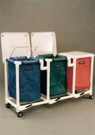 Medical Laundry Hamper by Laundry Cart Casters