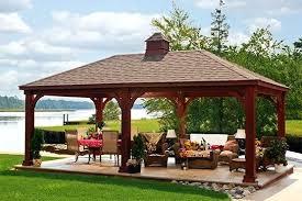 Backyard Gazebos Pictures - backyard with gazebo ideas an open gazebo over a spa deck shades
