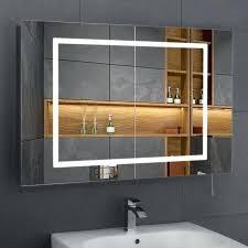 Bathroom Heated Mirror Bathroom Mirror Cabinet Led Shaver Spurinteractive