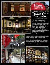 down one bourbon bar aaron smith archinect