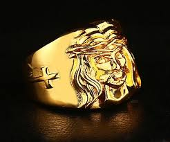 gold ring for men best quality high quality hip hop ring men s cross jesus ring 24k