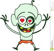 cute happy halloween clip art happy halloween zombie feeling madly in love stock vector image