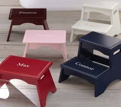 personalized step stools pottery barn kids