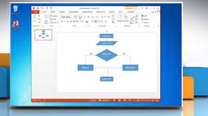 how to make a flow chart in powerpoint 2013 youtube