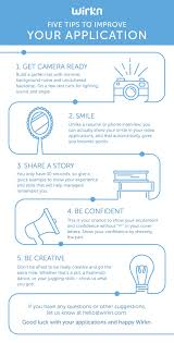 video resume tips 5 tips to improve your video application wirkn jobs the most important thing to remember when creating your video resume is that presentation is everything this infographic shows you just how to perfectly