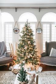 White Christmas Tree Decoration Ideas by Green And White Christmas Decorating Ideas Maison De Pax