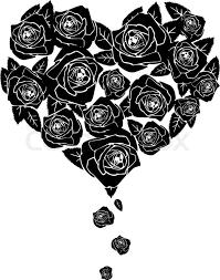 black roses black roses shape of heart stock vector colourbox