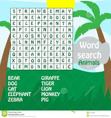 word search game animals royalty free stock images image 25745689