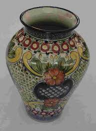 Mexican Pottery Vases Classic Talavera Vase Mexican Connexion For Talavera Pottery