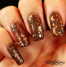 finally fall nail art design featuring serum no 5 polishes