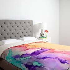 watercolor trend colorful wallpaper abstract pattern and duvet