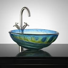 bathroom vessel sinks with cosmo glass vessel sink bathroom grey