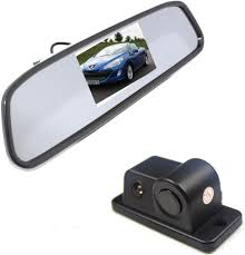 alria 2 in1 car parking reversing radar rear camera with 4 3
