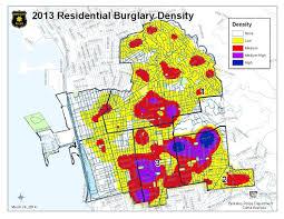 Crime Map Oakland Residential Burglaries Map 2013 Jpg