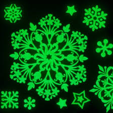 glow in the stickers glow snowflake window decorations