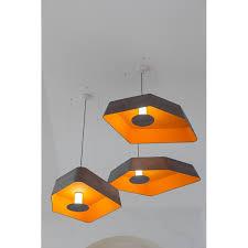 Orange Pendant Light Pendant Light Petit Nenuphar Led System Grey Orange Designheure