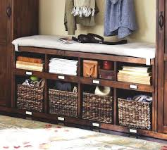 entryway bench with baskets and cushions coaster entryway bench with storage baskets and cushions black
