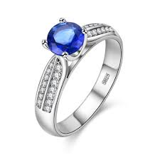 engagement rings with blue stones aliexpress buy megrezen charms wedding rings bague femme