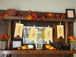 Autumn Decorations Home Fall Mantel The Grant Life
