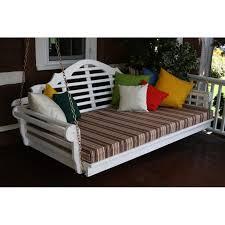 5 Ft Patio Swing With Cedar Pergola Create by Pine 6 U0027 Marlboro Swing Bed A U0026l