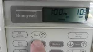 honeywell thermostat directions youtube