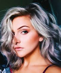 growing out gray hair wavy silver lob 17 silver hair looks that will make you want to