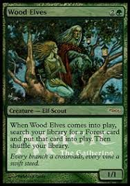 wood elves creature cards mtg salvation