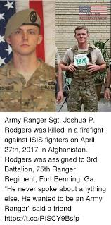 Army Ranger Memes - 282 gers army ranger sgt joshua p rodgers was killed in a firefight