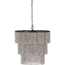 bead chandelier wood bead chandelier wayfair