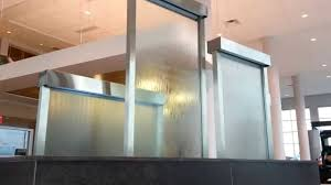 Glass Wall Design by Custom Water Wall Feature Indoor Glass Waterfall Walls Youtube