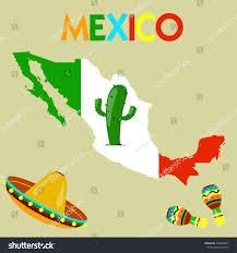 Eros Map Vector Map Mexico Location Cacti Maracas Stock Vector 394884697