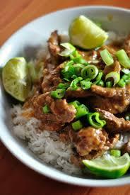 cuisine asiatique boeuf boeuf thaï à la cacahuète plats principaux quiches tartes salées