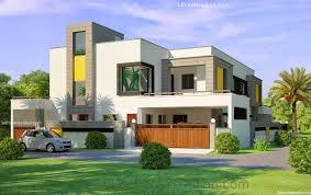 Home Design In 10 Marla 3d Front Elevation Com 1 Kanal Corner Plot 2 House Design