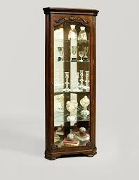Corner Display Cabinet With Glass Doors Curio Cabinet Howard Miller Display Cabinets Corner Curio