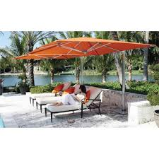 Best Patio Umbrella For Shade Outdoor Garden Best Orange Patio Cantilever Umbrella For Modern