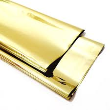 mylar gift wrap gold mylar metallic gold mylar wrapping paper 12 sheets gold foil