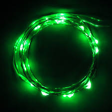 ultra thin wire led lights 20 battery operated green micro led lights on 7ft long ultra thin