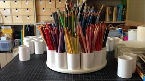 how to make a colored pencil storage carousel tutorial youtube