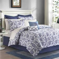 Queen Comforter Queen Bedding Sets Blue Piece Queen Pretty Blue White Comforter