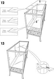 Klingsbo Glass Door Cabinet Ikea Klingsbo Glass Door Cabinet 47x31 Assembly
