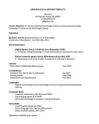 free chronological resume template free chronological resume templates http jobresumesle 957