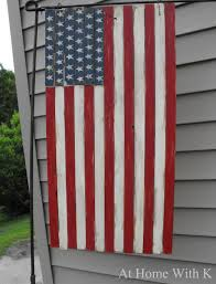 Americana Flags At Home With K Americana Wood Flag