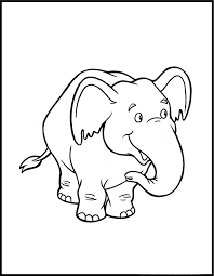 elephant coloring animals town free elephant color sheet