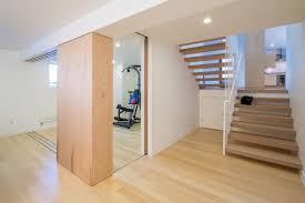 remodeling basement ideas home gym modern with open tread