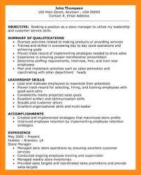 Store Manager Resume Template 8 Sample Resume For Retail Store Manager Azzurra Castle Grenada
