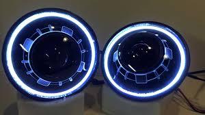 jeep wrangler blue headlights jeep wrangler hid projector headlights bi xenon led halos