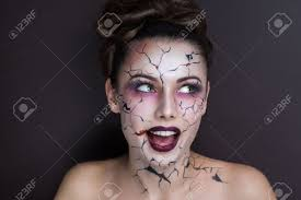 beautiful with creative make up for the halloween party